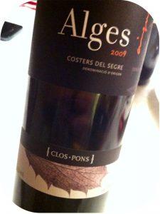 2009 Clos Pons, Alges Tinto, Catalonien, Spanien