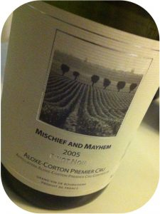 2005 Mischief and Mayhem, Aloxe-Corton Premier Cru, Bourgogne, Frankrig
