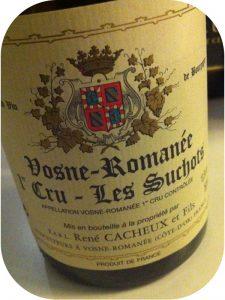 2005 Domaine René Cacheux et Fils, Vosne Romanée 1'er Cru Les Suchot, Borgogne, Frankrig