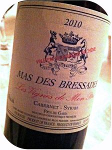 2010 Mas des Bressades, Les Vignes de Mon Père Cabernet Syrah, Costières de Nîmes, Frankrig