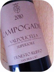 2010 Ernesto Ruffo, Campogadis Valpolicella doc Superiore, Veneto, Italien