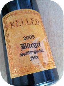 """2005 Weingut Keller, Spätburgunder GG """"Bürgel"""" (Felix), Rheinhessen, Tyskland"""