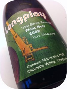 2009 Longplay Wine, Pinot Noir Jory Bench Reserve Lia's Vineyard, Oregon, USA