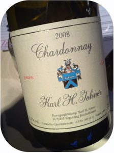 2008 Weingut Karl H. Johner, Chardonnay SJ, Baden, Tyskland