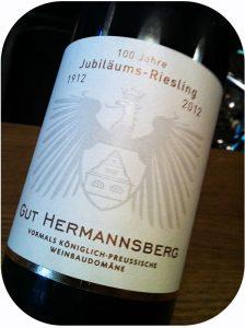 2012 Gut Hermannsberg, 100 Jahre Jubiläums-Riesling, Nahe, Tyskland