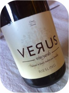 2012 Verus Vineyards, Riesling, Slovenien
