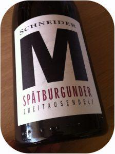 2011 Weingut Markus Schneider, Spätburgunder M, Pfalz, Tyskland