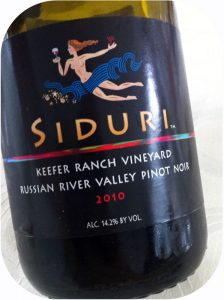 2010 Siduri Wines, Keefer Ranch Vineyard Pinot Noir, Californien, USA