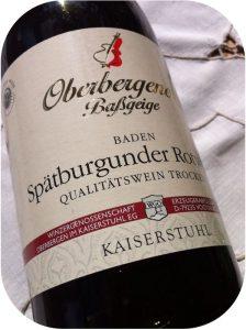 2011 Winzergenossenschaft Oberbergen, Oberbergener Baßgeige Spätburgunder, Baden, Tyskland