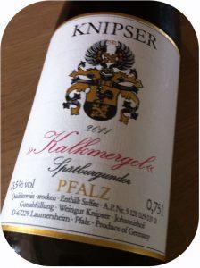 2011 Weingut Knipser, Kalkmergel Spätburgunder, Pfalz, Tyskland