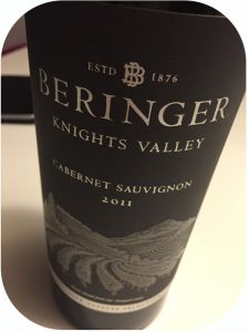 2011 Beringer Vineyards, Knights Valley Cabernet Sauvignon, Californien, USA