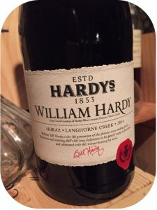 2014 Hardys Wines, William Hardy Shiraz, Langhorne Creek, Australien