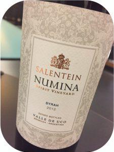 2012 Salentein, Numina Spirit Vineyard Syrah, Mendoza, Argentina
