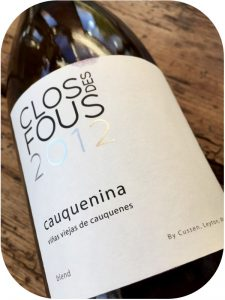 2012 Clos des Fous, Cauquenina, Maule Valley, Chile