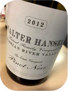 2012 Walter Hansel Winery, Pinot Noir Cuvée Estate, Californien, USA