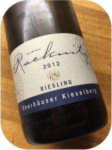 2012 Weingut von Racknitz, Oberhäuser Kieselberg Riesling, Nahe, Tyskland