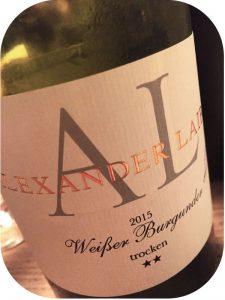 2015 Weingut Alexander Laible, Weißer Burgunder Trocken **, Baden, Tyskland