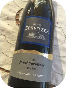 2014 Weingut Spreitzer, Riesling Trocken, Rheingau, Tyskland