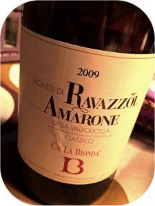 2009 Ca' La Bionda, Vigneti di Ravazzol Amarone Classico delle Valpolicella, Veneto, Italien