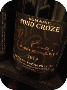 2014 Domaine Fond Croze, Côtes du Rhône Cuvee Romanaise, Rhône, Frankrig