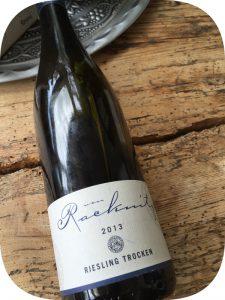 2013 Weingut von Racknitz, Riesling Trocken, Nahe, Tyskland