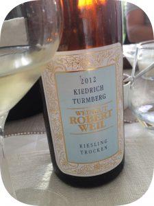 2012 Weingut Robert Weil, Kiedrich Turmberg Riesling Trocken, Rheingau, Tyskland