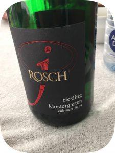 2014 Weingut Josef Rosch, Klostergarten Riesling Kabinett, Mosel, Tyskland