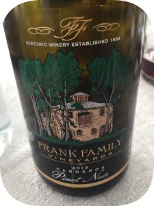 2013 Frank Family Vineyards, Carneros Pinot Noir, Californien. USA