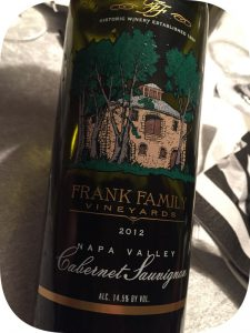 2012 Frank Family Vineyards, Napa Valley Cabernet Sauvignon, Californien, USA