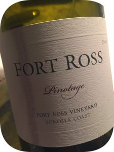 2010 Fort Ross Vineyard & Winery, Pinotage, Californien, USA