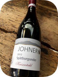2012 Weingut Karl H. Johner, Spätburgunder Kaiserstuhl, Baden, Tyskland