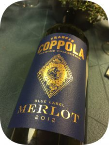2012 Francis Ford Coppola Winery, Merlot Diamond Collection, Californien, USA
