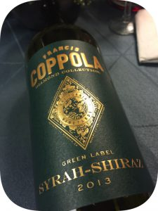 2013 Francis Ford Coppola Winery, Syrah Diamond Collection, Californien, USA