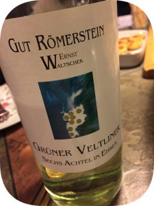 2015 Weingut Römerstein Ernst Waltschek, Grüner Veltliner, Burgenland, Østrig