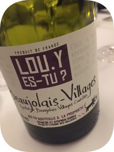 2015 Mathilde & Stephen Durieu, Beaujolais-Villages Lou. Y es-tu?, Bourgogne, Frankrig