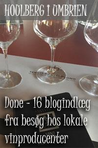 Status på blogindlæg om blogindlæggene om mine besøg på vingårde i Umbrien