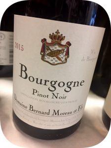 2015 Bernard Moreau et Fils, Bourgogne Pinot Noir, Bourgogne, Frankrig