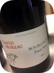 2015 David Moreau, Bourgogne Pinot Noir, Bourgogne, Frankrig