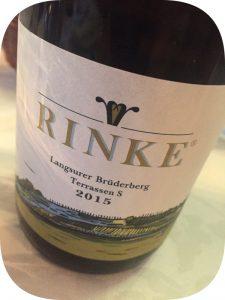 2015 Weingut Rinke, Langsurer Brüderberg Terrassen S Chardonnay Mischsatz, Mosel, Tyskland