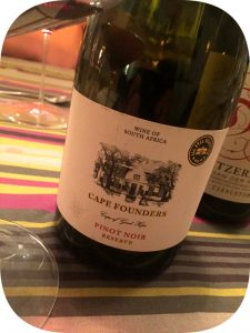 2014 Cape Founders, Pinot Noir Reserve, Western Cape, Sydafrika