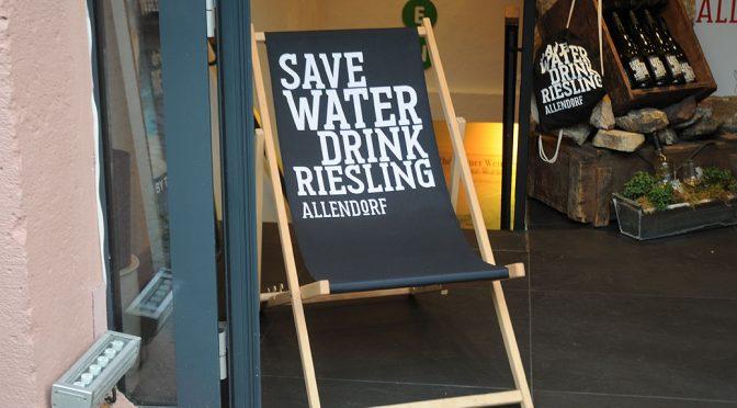 2016 Weingut Fritz Allendorf, Save Water Drink Riesling Dry, Rheingau, Tyskland