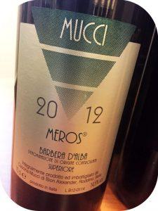 2012 Cascina Mucci, Barbera d'Alba Superiore Meros, Piemonte, Italien