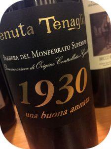 2012 Tenuta Tenaglia, Barbera del Monferrato Superiore 1930, Piemonte, Italien