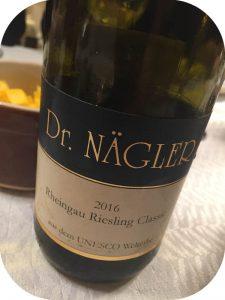 2016 Weingut Dr. Nägler, Rheingau Riesling Classic, Rheingau, Tyskland
