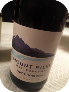 2016 Mount Riley Wines, Pinot Noir, Marlborough, New Zealand