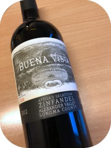 2012 Buena Vista Winery, Attila's Selection Zinfandel, Californien, USA