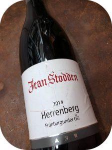 2014 Weingut Jean Stodden, Recher Herrenberg Frühburgunder GG, Ahr, Tyskland