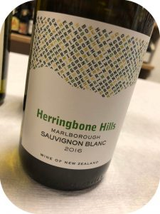 2016 Winegrowers of ARA, Herringbone Hills Sauvignon Blanc, Marlborough, New Zealand