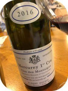 2016 Albert Sounit, Mercurey 1. Cru Clos de Montaigus, Bourgogne, Frankrig