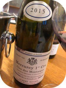 2015 Albert Sounit, Mercurey 1. Cru Clos de Montaigus, Bourgogne, Frankrig